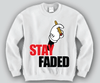 Stay Faded Mickey Mouse hands Unisex Crewneck Funny and Music
