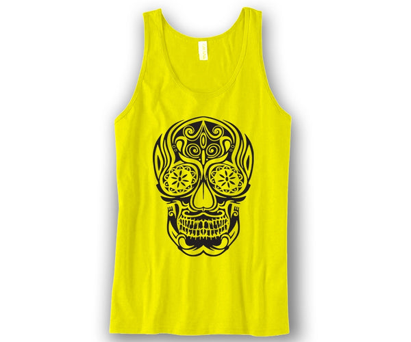 Sugar Skull Unisex Tank Top Funny and Music
