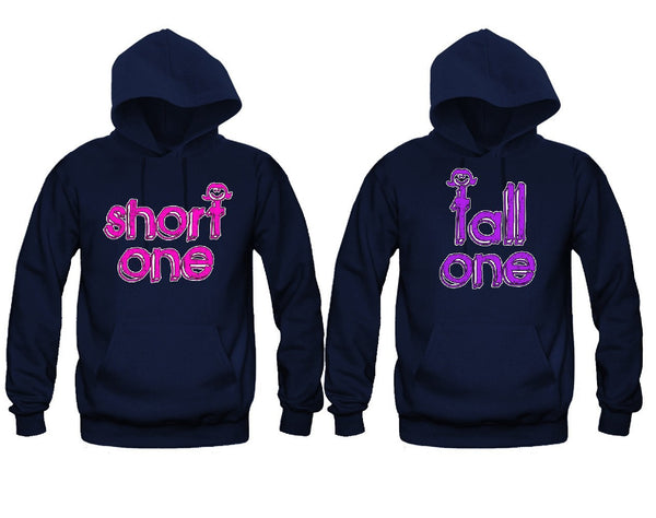 Tall One and Short One Best Friends Girl BFFS Hoodies