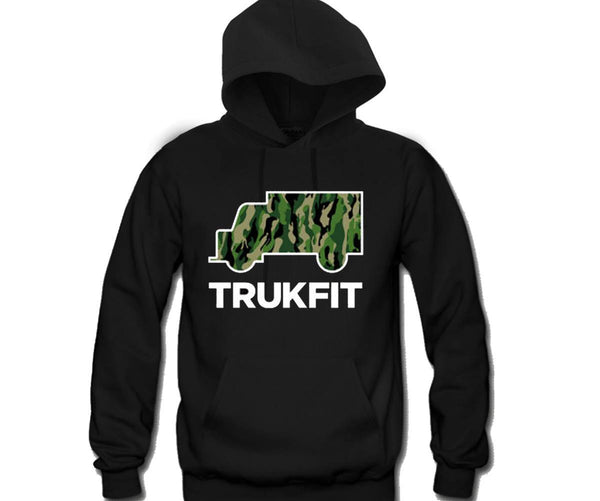 TruckFit Camo Unisex Hooded Sweatshirt Funny and Music