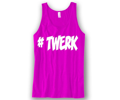 #Twerk Unisex Tank Top Funny and Music