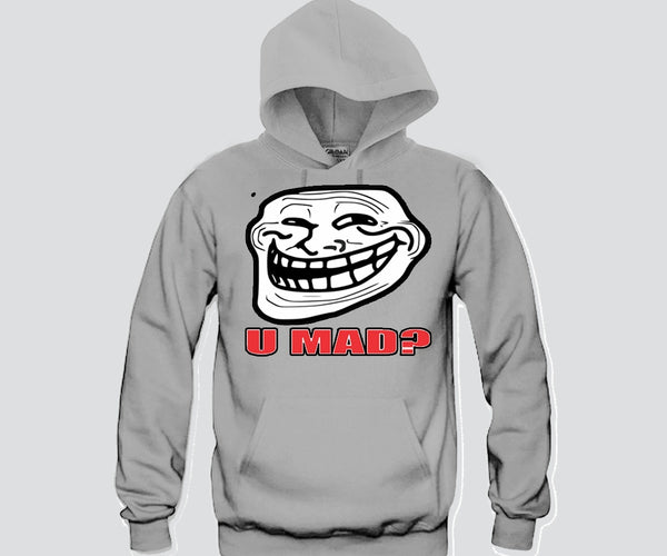 U Mad Rage Face Hoodie Funny and Music