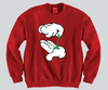 Weed Mickey Mouse hands Unisex Crewneck Funny and Music