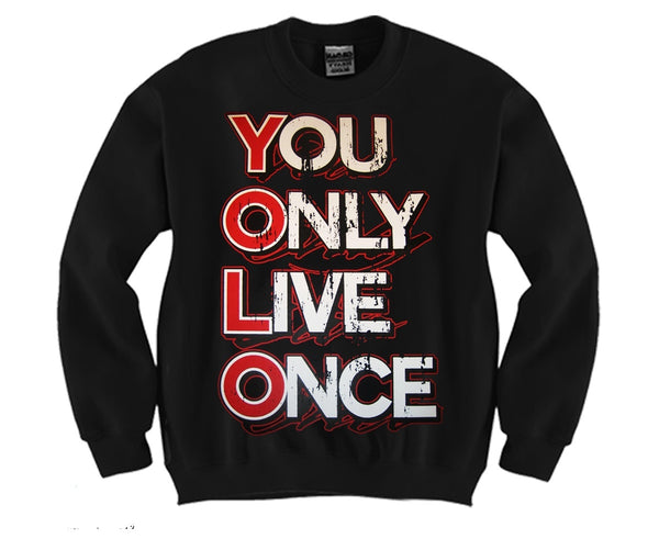 YOLO Unisex Crewneck Funny and Music