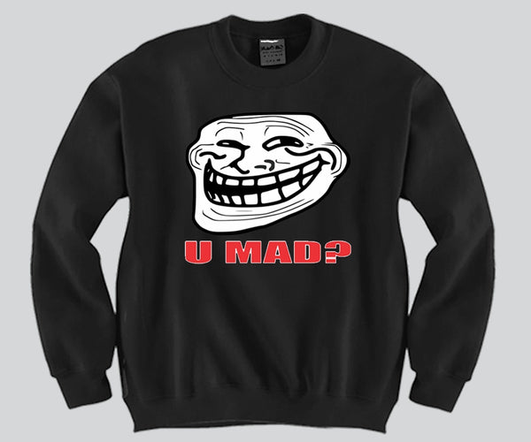 You Mad Face Crewneck Funny and Music