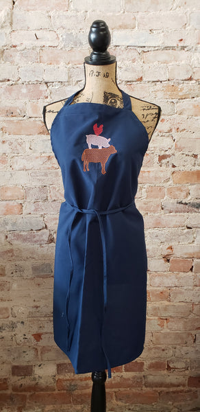 Farm Animal Stack Apron