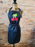 Patchwork Cherry Apron with Pockets