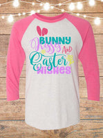 Bunny Kisses And Easter Wishes Raglan T-Shirt
