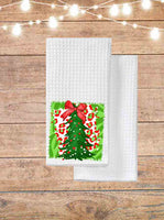 Christmas Tree With Bow Kitchen Towel