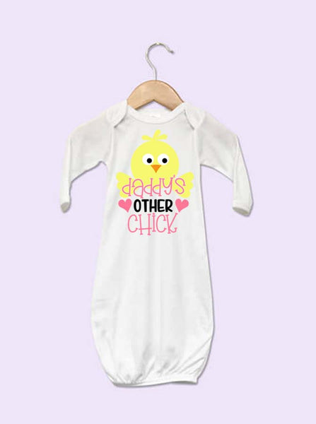 Daddy's Other Chick Easter Baby Gown