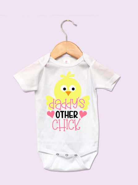 Daddy's Other Chick Easter Baby Onesie