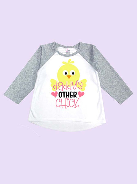 Daddy's Other Chick Long Sleeve Toddler Raglan
