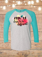 Dare To Be Different Raglan T-Shirt