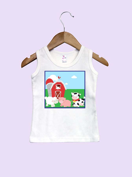 Farm Animal Infant and Toddler Tank Top