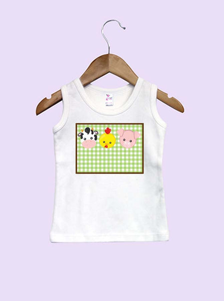 Farm Faces Trio Infant and Toddler Tank Top