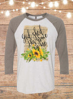 God Shed His Grace On Me Raglan T-Shirt