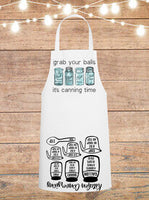 Grab Your Balls It's Canning Time Cheat Sheet Apron