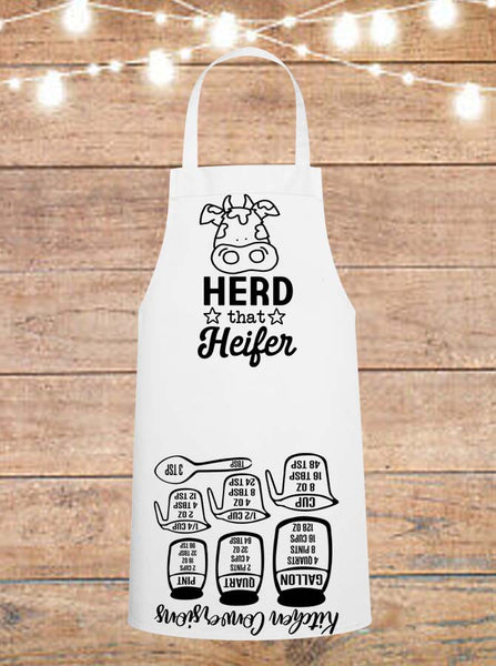 Herd That Heifer Cheat Sheet Apron