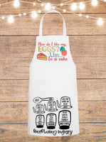 How Do I Like My Eggs In A Cake Cheat Sheet Apron