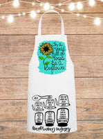 In A World Full Of Roses Be A Sunflower Cheat Sheet Apron