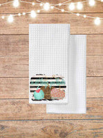 In All Things Give Thanks Pumpkin Kitchen Towel