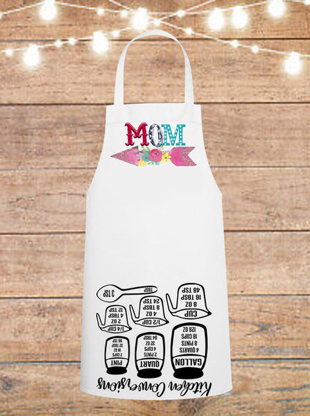 Mom Arrow Cheat Sheet Apron