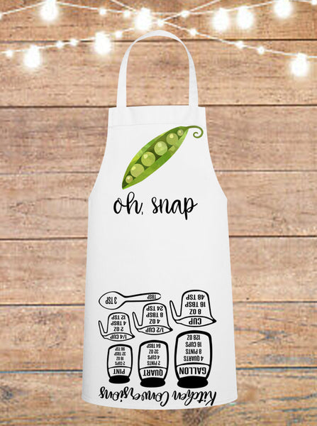 Oh Snap Peas Cheat Sheet Apron