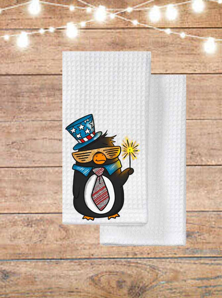 Patriotic Penguin Kitchen Towel