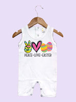 Peace Love Easter Sleeveless Baby Romper