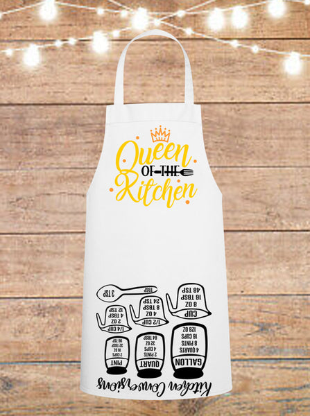 Queen Of The Kitchen Cheat Sheet Apron