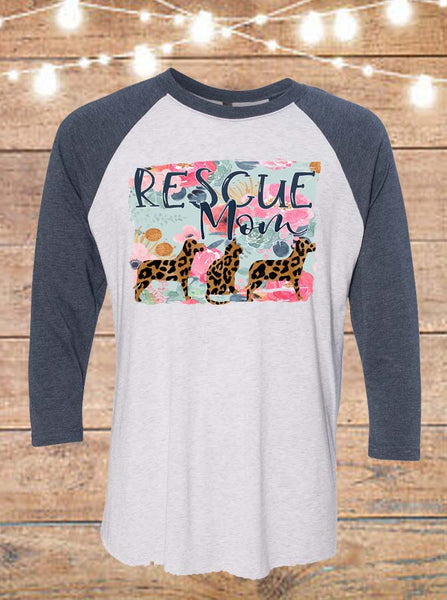 Rescue Mom Raglan T-Shirt