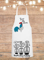 Rise And Shine Rooster Cheat Sheet Apron