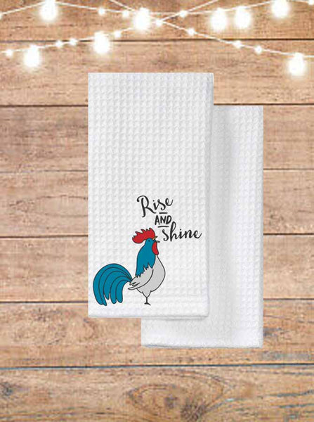 Rise And Shine Rooster Kitchen Towel
