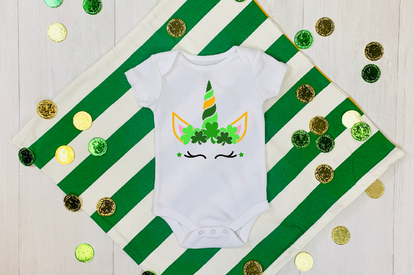 St. Patrick's Day Unicorn Infant Toddler Onesie or T-shirt