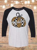 Thankful Pumpkin Raglan T-Shirt