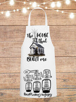 The House That Built Me Cheat Sheet Apron
