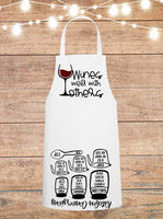 Wines Well With Others Cheat Sheet Apron