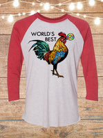 World's Best Cocksucker Raglan T-Shirt