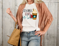 Leggings, Leaves, and Lattes T-shirt