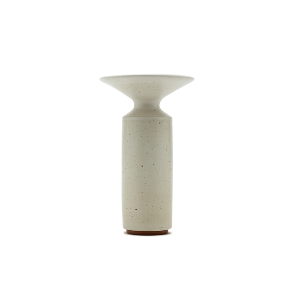 Hera Vase in White Glaze