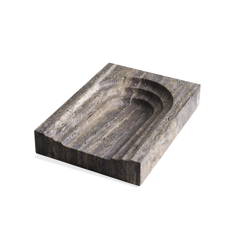 Block Thoronet in Black Travertine Marble