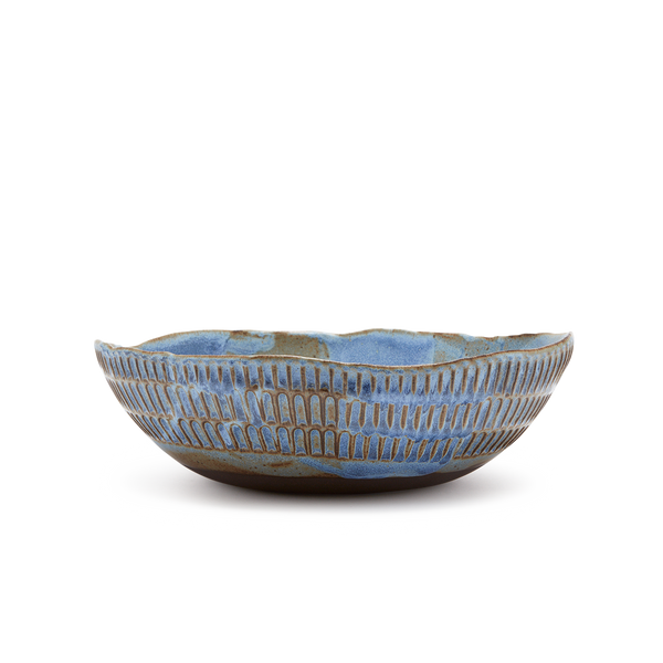Fruit Bowl in Blue Glaze