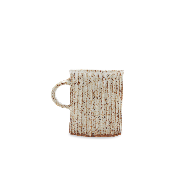 Speckled Carved Stripe Mug