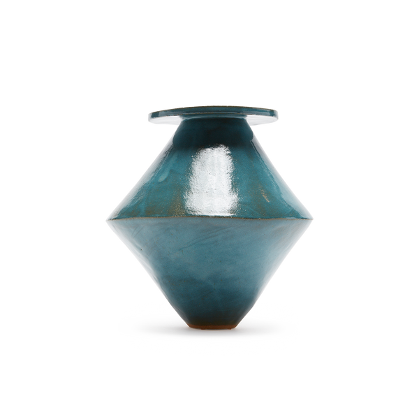 JUMBO Diamond Vicki Teal Vase