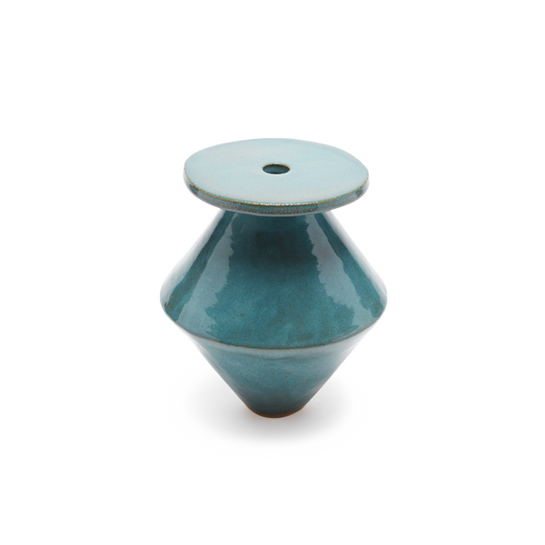 LARGE Diamond Vicki Teal Vase