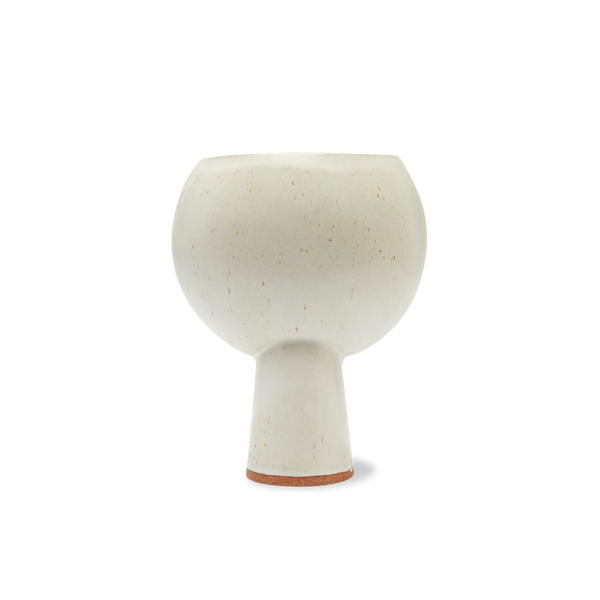 Open Hero Vase in White Glaze