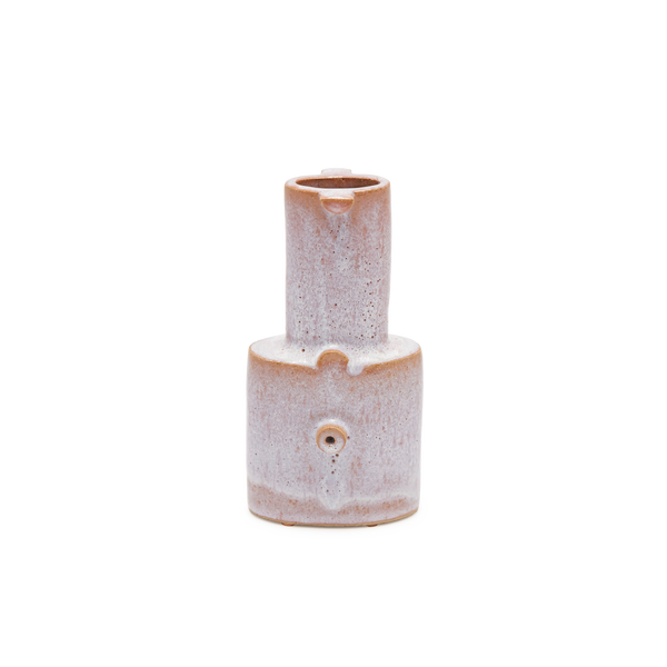 Small Bottle Vase in Pink Ice