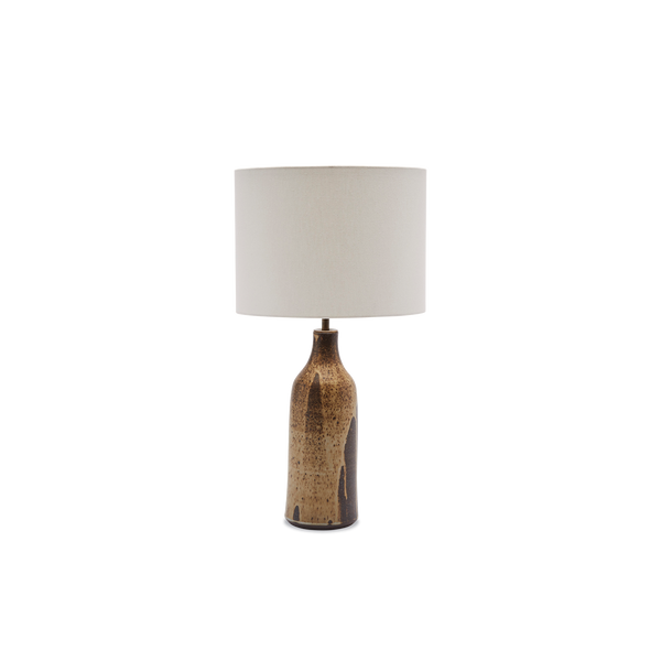 Poured Brown Bottle Lamp