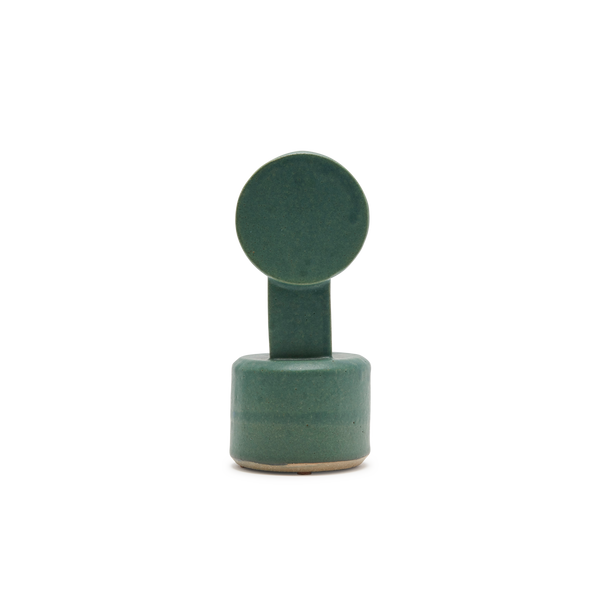 Small Circle Top Vase in Green
