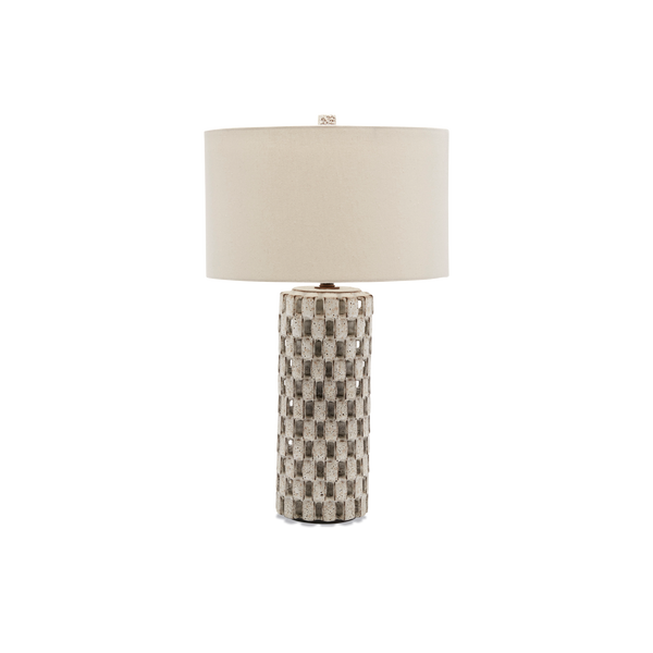 White Domino Lamp